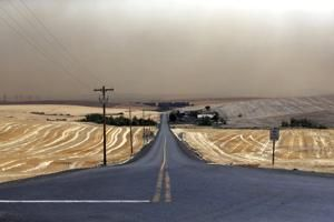 Oregon fire crushes wheat farmers during bountiful harvest