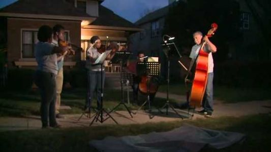 WATCH: Group of musicians plays songs at crime scenes to help communities heal
