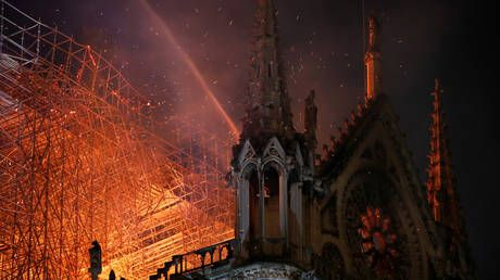 Investigators think electrical short-circuit most likely caused Notre Dame fire - French official