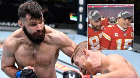 'I'm the baddest man from Kansas City': UFC bruiser Marquez calls out NFL stars Mahomes, Kelce in BADMINTON challenge