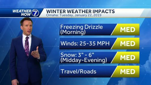 Freezing drizzle to snow Tuesday, higher totals possible in Omaha