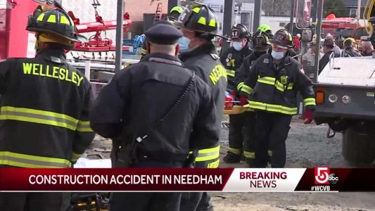 Construction worker falls off steel beam in Needham
