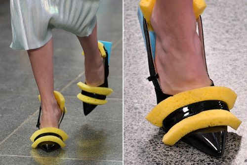 These shoes decorated with sponges cost $1K