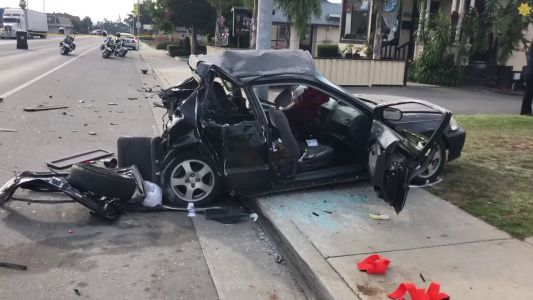 Watsonville crash launches parked car 75 feet with 2 passengers inside