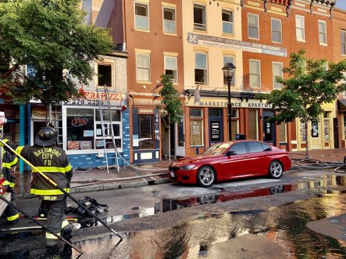 Business catches fire on South Broadway in Fells Point