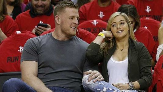 Sports stars J.J. Watt and Kealia Ohai get married