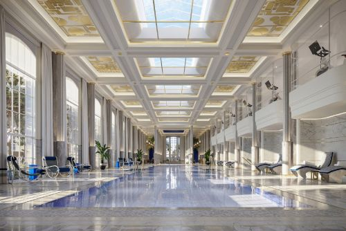 Revealed: The Waldorf Astoria's exclusive NYC swimming pool