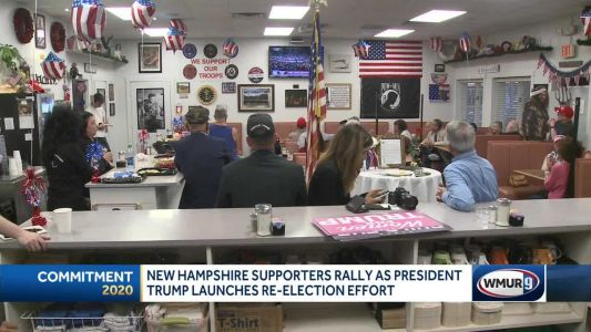 NH Trump supporters rally as president launches reelection effort