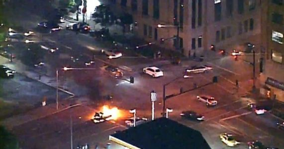 Four officers shot in St. Louis amid night of violent protests