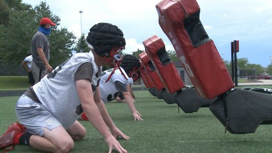 New Albany football holds first official practice of season