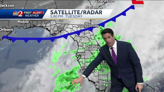 Morning showers Wednesday, then drying out