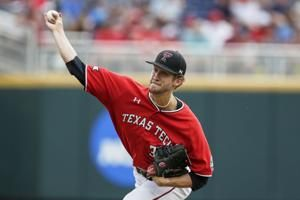 Masters' triple gives Texas Tech 5-4 at CWS, sends Hogs home