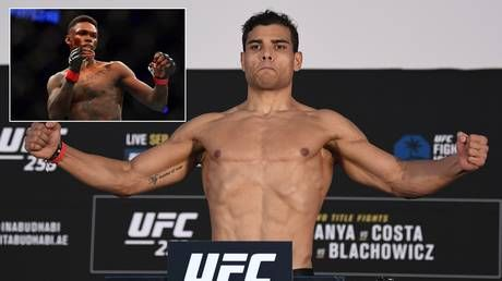 'Erase them all': UFC title challenger Paulo Costa posts gory image of 'decapitated' rival Adesanya ahead of UFC 253 showdown