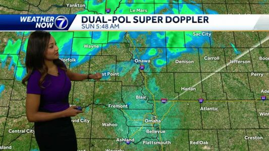 Scattered showers, cooler temperatures Sunday