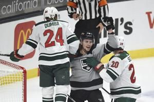 Johansson's goal gives Wild another OT win against Kings