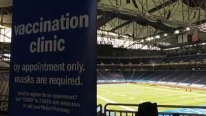 Home of NFL's Detroit Lions hosts COVID-19 vaccine clinic