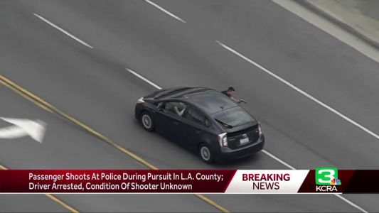 Passenger shoots at police during LA-area chase