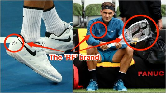 Roger Federer lost his iconic 'RF' logo when he terminated his contract with Nike - but he wants it back