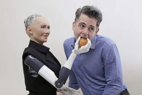 Creator of lifelike robot thinks humans will marry droids by 2045