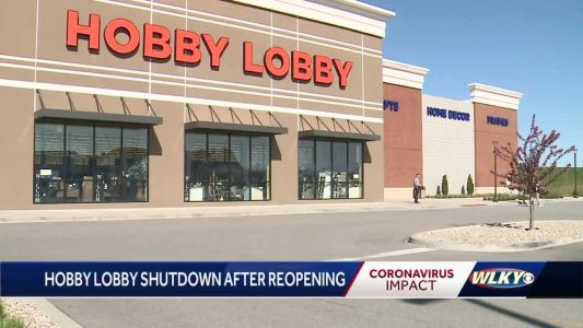 Southern Indiana Hobby Lobby forced to shut down after reopening