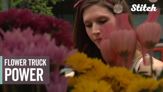 'Show someone that you care': Flower truck's mission is to spread joy wherever it goes