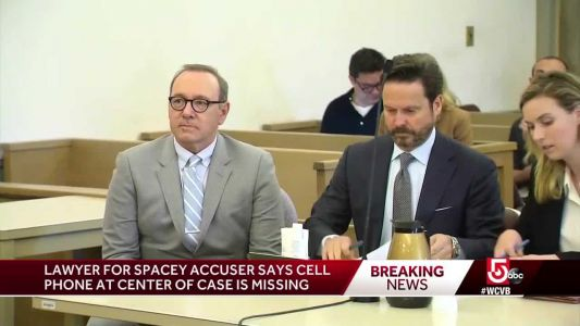 Phone eyed in Kevin Spacey Nantucket groping case missing, accuser's attorney says