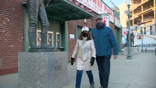 Couple who met at Fenway Park 54 years ago gets vaccinated at Boston ballpark