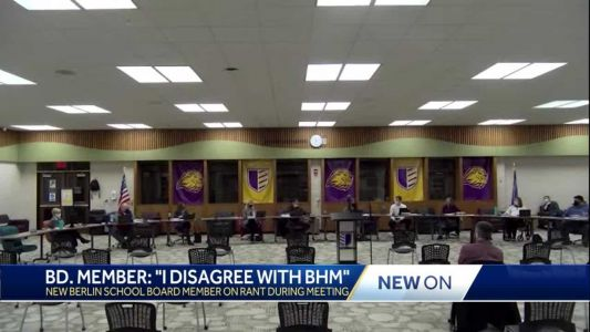 New Berlin School Board member says he doesn't agree with Black History Month
