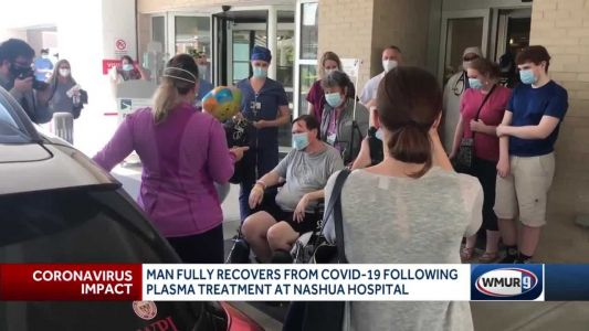 Man considered near death from COVID-19 leaves hospital after receiving plasma