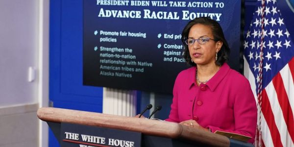 Susan Rice is burning sage in her West Wing office, once occupied by anti-immigrant hardliner Stephen Miller, used to cleanse a space of negativity