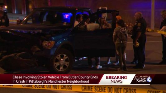 A police chase ends in a crash on city's North Side