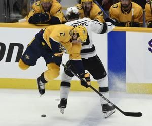 Jarnkrok's hat trick leads Predators over Kings 5-3