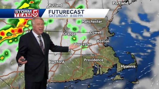 Video: Thunderstorms push further east; rain threat this weekend