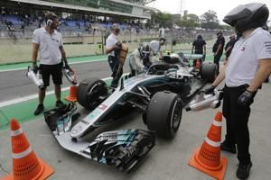 Bottas and Hamilton fastest in Brazilian GP practice