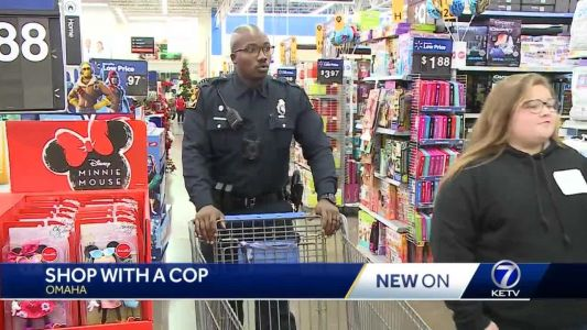 Dozens of Omaha children receive free shopping spree with law enforcement