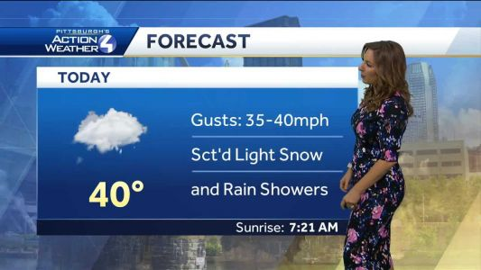 Friday forecast: Gusty winds and light snow