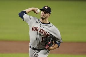 Astros take combined no-hitter into 8th, rout Orioles 10-2