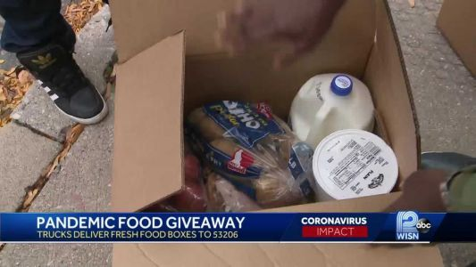 Organization hands out boxes of free food in 53206 ZIP code