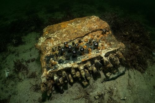 Divers discover WWII Nazi Enigma encryption machine in Baltic Sea