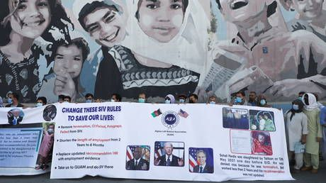 Biden doubles funding for 'unexpected needs' of Afghan refugees as ex-interpreter abandoned by Pentagon gets BEHEADED by Taliban