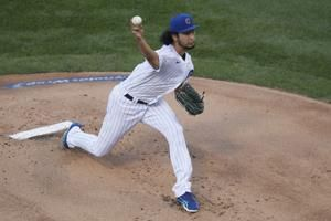 Darvish takes no-hitter into 7th, Cubs beat Brewers 4-2