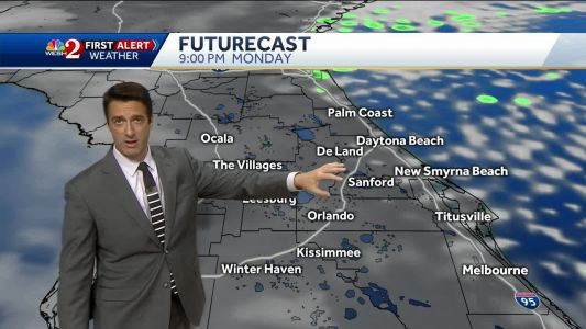 A few showers Tuesday afternoon