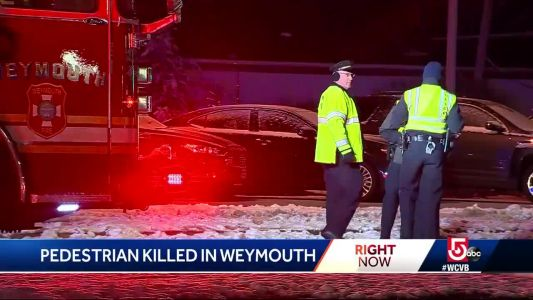 Pedestrian struck and killed by SUV in Weymouth