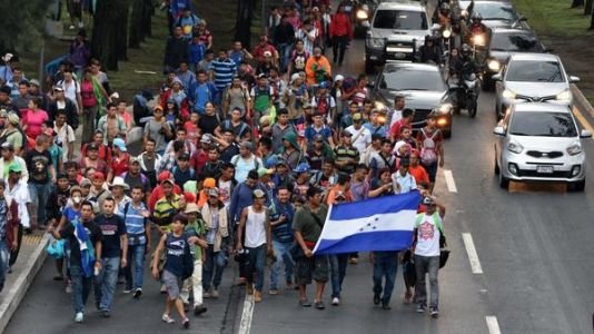 As Caravan Of Migrants Heads North, Trump Threatens To Close Southern U.S. Border