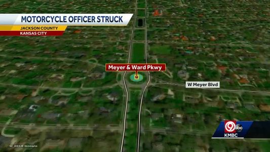 KCPD motorcycle officer struck by driver Sunday