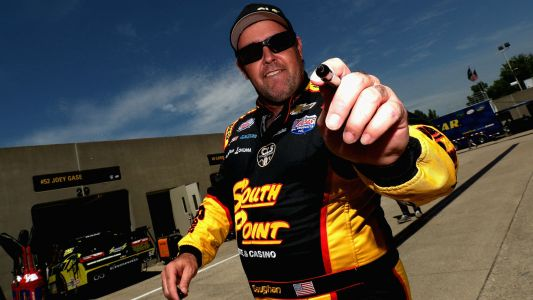NASCAR at Talladega: Brendan Gaughan cracks jokes after flipping in wild crash