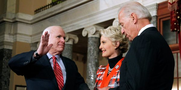 'Don't react to it': Cindy McCain, wife of the late Republican senator, explains the 'tipping' point that led her to endorse Democrat Joe Biden