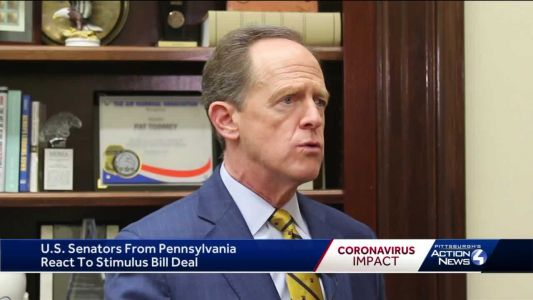 Pennsylvania's US senators talk up benefits of $2 trillion coronavirus relief bill