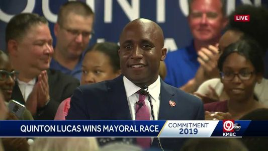 Mayor-elect Quinton Lucas thanks Kansas City voters, Jolie Justus