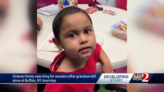 Orlando family searching for answers after grandson left alone at Buffalo, NY doorstep